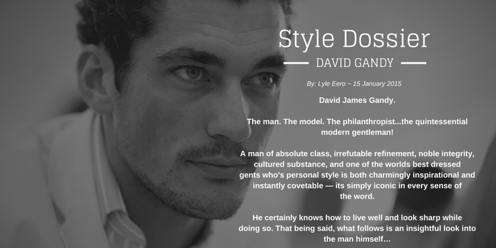Style Dossier: David Gandy (monk + eero)