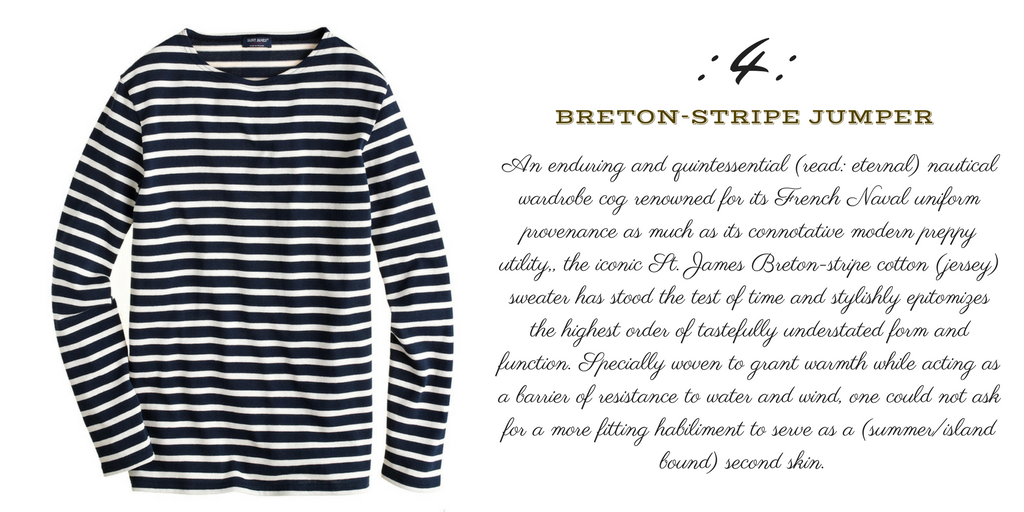 Desert Island Essentials #4: Saint. James Breton-stripe Sweater/Jumper (monk + eero)