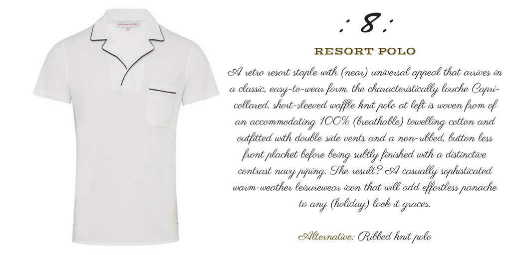 Desert Island Essentials #8: Slim-Fit Linen Resort Polo (Orlebar-Brown-Donald)