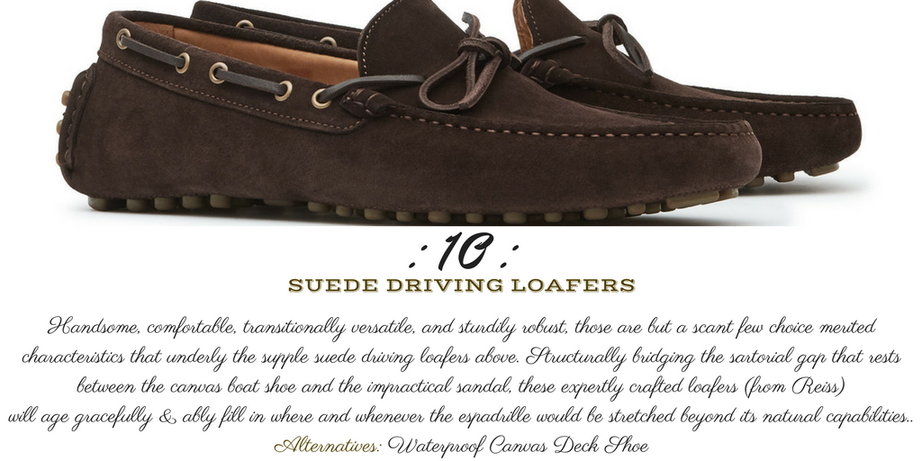 Desert Island Essentials #10: Reiss BENTON SUEDE DRIVING SHOES (monk + eero)