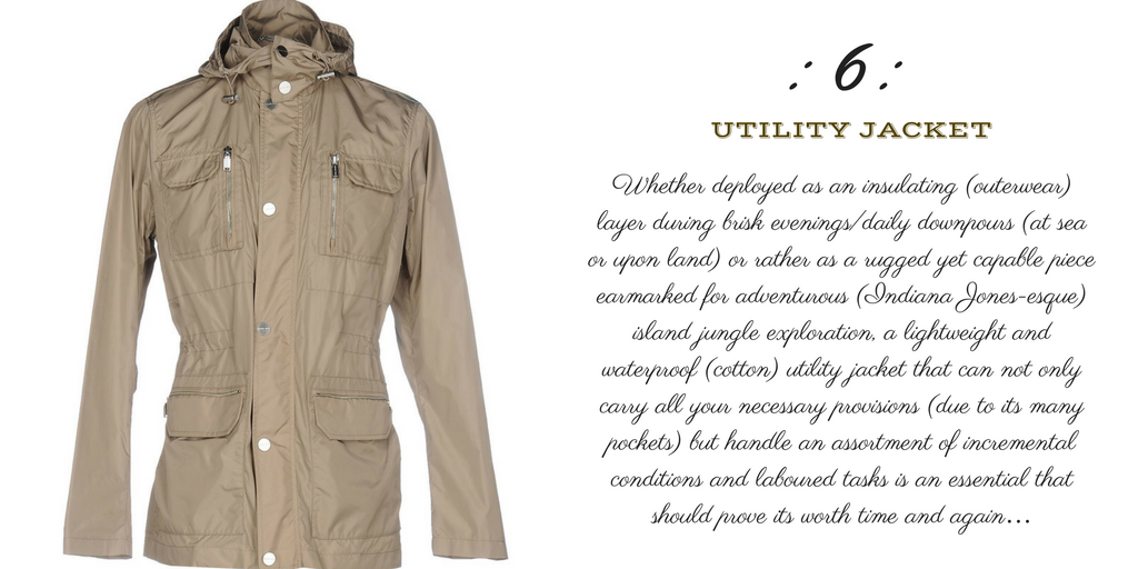 Desert Island Essentials #6: Cotton Utility Jacket (Michael Kors)