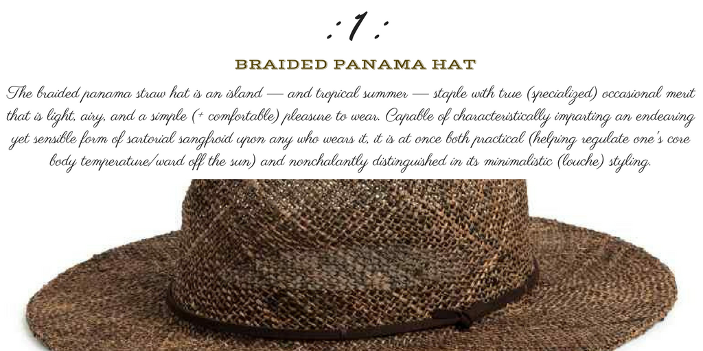 Desert Island Essentials #1: Braided Panama Hat (H&M)